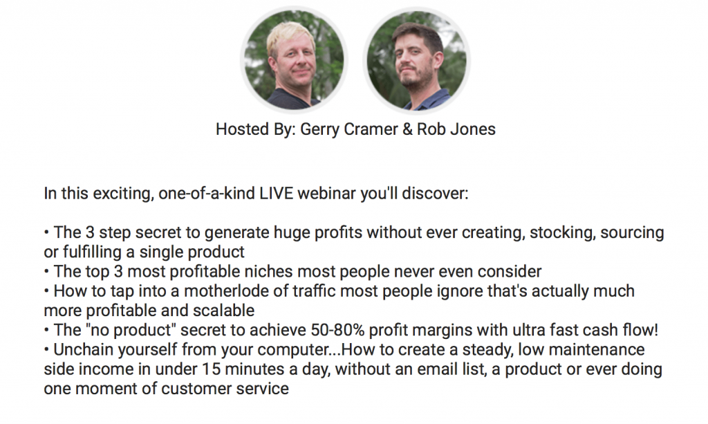 last webinar with Gerry Cramer and Rob Jones